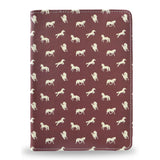 Brown Horses - iPad Air vegan leather folio was, cover for iPad Air, horse case