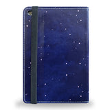 Burn the Midnight Oil - Blue Vegan iPad Mini 4 Case with artistic design