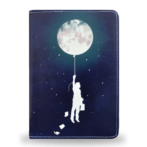 Burn the Midnight Oil - Slim Blue Vegan iPad Mini 4 Case with artistic design