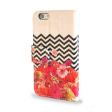 SALE 'Chevron Flora II' iPhone 6/6S Wallet Case, , Create&Case - createandcase