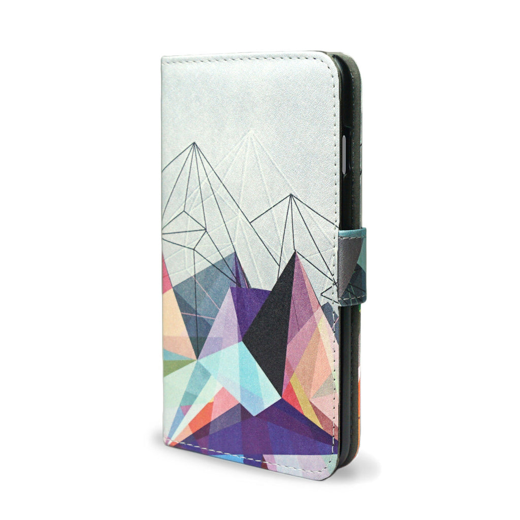 Colourflash 3 - Colourful Slim Grey & Vegan iPhone 8 Wallet Case Cover