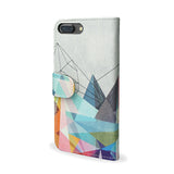 Colourflash 3 - iPhone 7 Plus Wallet Case Cover, 100% vegan & Cruelty Free