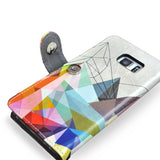 'Colourflash 3' Artist Designed Samsung Galaxy S7 Wallet Case, , Create&Case - createandcase