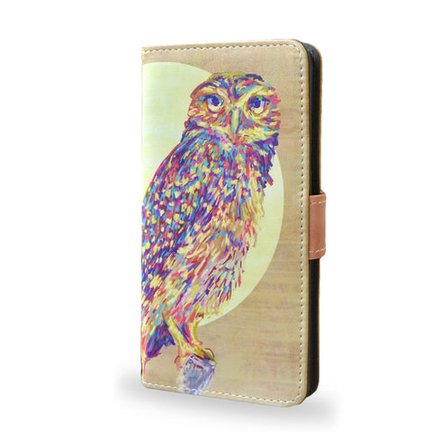 Watercolour Owl - Samsung Galaxy Note 5 leather Case, Note 5 case cover, createandcase