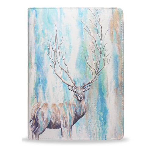 Deer Tree, animal print deer stag watercolour ipad air vegan leather case cover, createandcase
