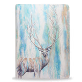 Deer Tree, animal print deer stag watercolour ipad air 2 vegan leather case cover, createandcase
