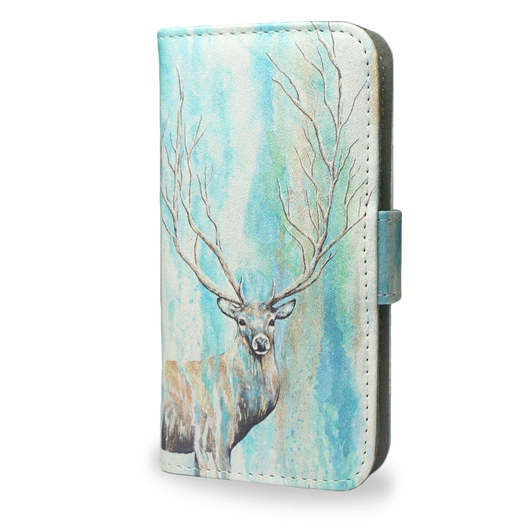 'Deer Tree' Artist Designed iPhone 7 leather wallet style Case, reateandcase, unique vegan gifts