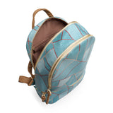 Duck Egg & Copper Small Vegan Backpack Rucksack