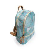 Duck Egg & Copper - Geometric Green Vegan Backpack
