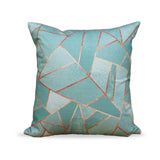 Duck Egg & Copper- Modern Green Geometric Cushion for home decor