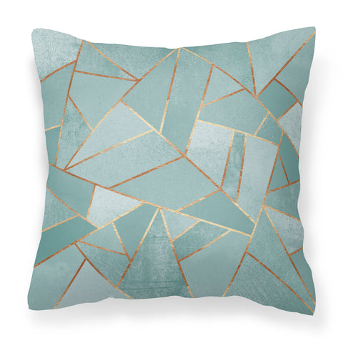 Duck Egg & Copper- Modern Green Cushion to compliment your home decor