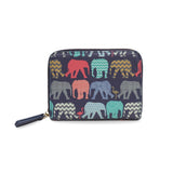 Elephants & Flamingos - Compact Designer Purse Wallet