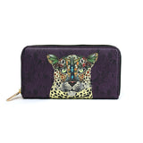 Leopard Queen - Purple Animal Print Vegan Leather Purse for Women