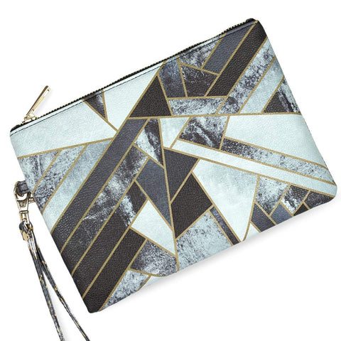 Fragments - Black & White Vegan Clutch Bag from HETTY+SAM