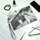 Fragments - Black & White Wristlet Vegan Clutch Bag from HETTY+SAM