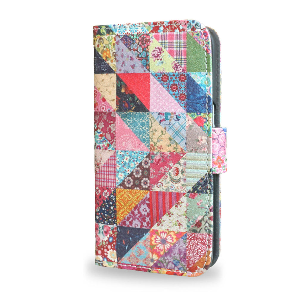 Grandma's Quilt - Samsung Galaxy S7 Edge Leather wallet style case, patchwork quilted s7 case, cover
