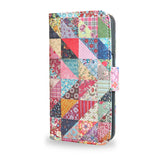 Grandma's Quilt - Samsung Galaxy S7 Leather wallet style case, patchwork quilted s7 case, cover