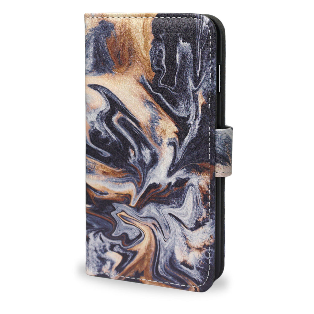Gold Veins, iPhone 8 Plus Marble case, Wallet Case