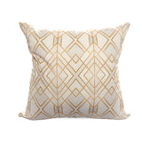 Golden Geo stylish white home cushions