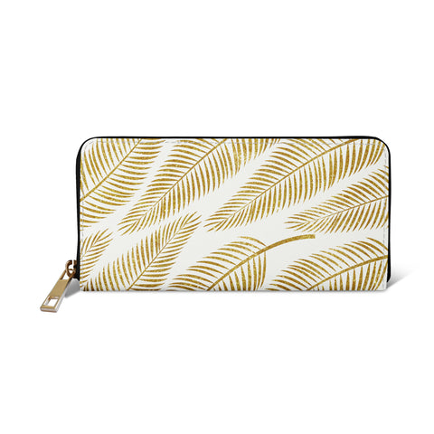 Golden Palm - White & Gold Womens Vegan Purse from HETTY+SAM