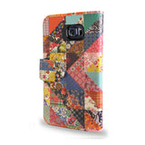 Grandma's Quilt - Patchwork quilted Samsung Galaxy S6 Edge Plus case - vegan leather wallet case s6 edge plus , unique gifts
