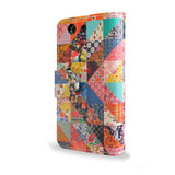 Patchwork Quilted design for the Sony Xperia Z3 Compact, vegan leather Z3 Compact Case