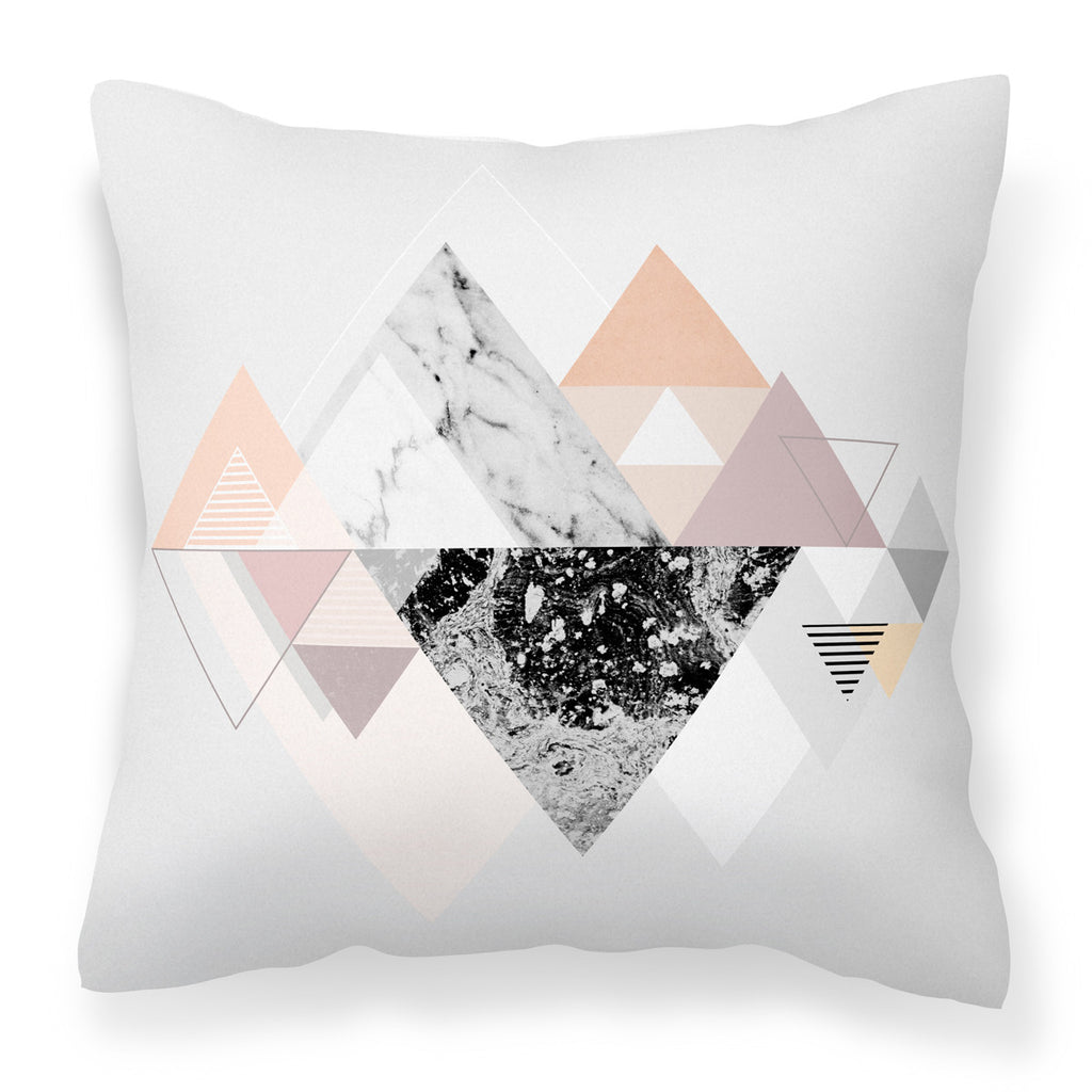 Graphic 110 - Stylish & Modern Grey Marble & White Cushion