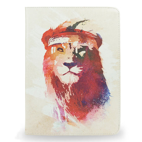SALE! 'Gym Lion' iPad 2017 Vegan Leather Case, , Create&Case - createandcase