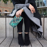 Emerald Blocks - Luxury Green Leather Purse from HETTY+SAM