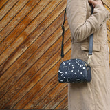 Shapes - Black Leather Cross Body Bag from HETTY+SAM
