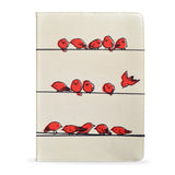 iPad Air 2 - Red birds vegan leather case cover for iPad Air 2, createandcase