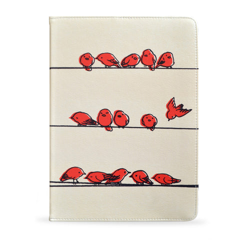 iPad Air - Red birds vegan leather case cover for iPad Air, createandcase