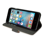 Billy Rays - Colourful iPhone SE leather wallet viewing stand for movies videos