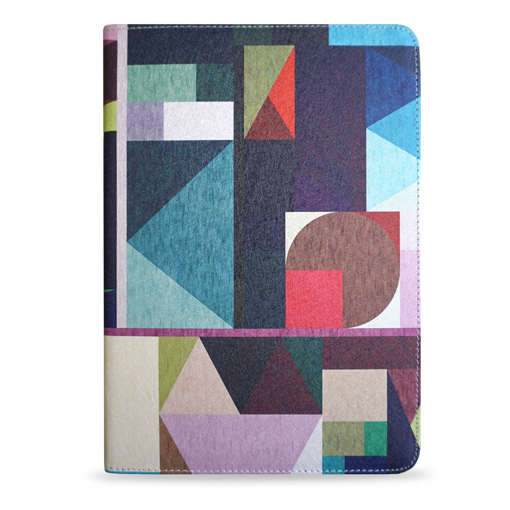 Kaku - Geometric vegan leather iPad Pro 9.7 inch case, unique gifts, vegan gifts, createandcase