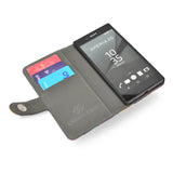 Leather wallet case for Sony Xperia Z5 with credit cards, vegan leather createandcase