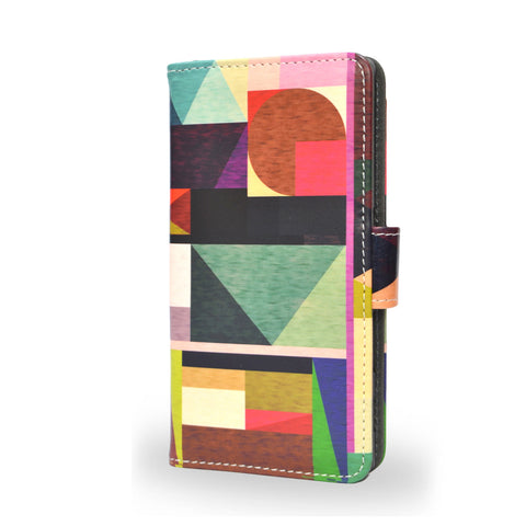 Kaku - Geometric Vegan leather Z5 wallet case, createandcase, leather wallet