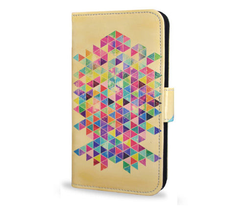 Yellow, Samsung Galaxy S6 wallet style case, vegan leather s6 cover
