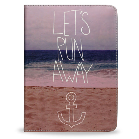 Let's Run Away - Vegan iPad 2018 Case with beach photography