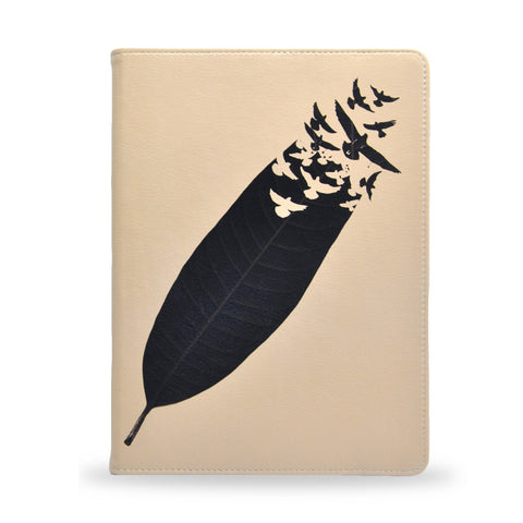 Leave Leaf Left - Bird, feather Samsung Galaxy Tab S2 9.7 inch vegan leather folio case cover