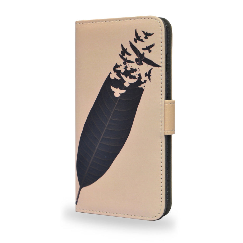 Leave Leaf Left - Bird, feather Sony Xperia Z5 vegan leather wallet case