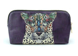 CreateandCase - Leopard Queen Make Up Bag, gifts for her, bridesmade gift, vegan leather