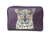 Leopard Queen - Unique Travel, Wash, Toiletry Bag made using vegan leather
