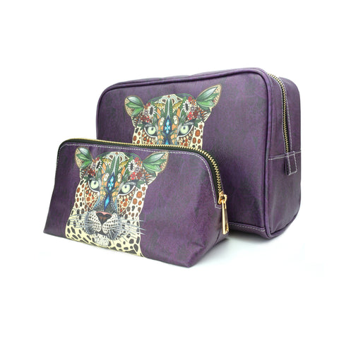 Leopard Queen - Animal Print Purple Travel Gift Set