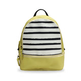 Mustard X Stripes - Small Striped Leather Backpack in Mustard Yellow from HETTY+SAM
