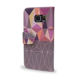 Nordic Combination - Purple Samsung Galaxy S6 Edge wallet style case, vegan leather s6 Edge cover