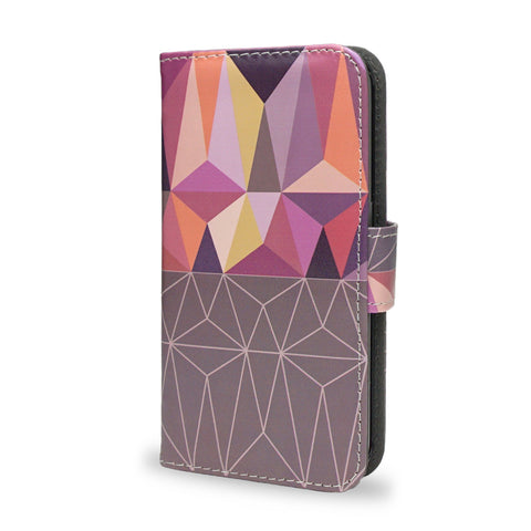 Nordic Combination - Purple Samsung Galaxy S6 wallet style case, vegan leather s6 cover