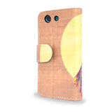 Watercolour Owl - Sony Xperia Z3 Compact wallet case, Z3 Compact leather case