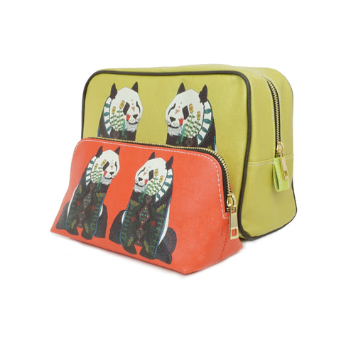 Panda - Designer Travel Gift Set with Wash & Cosmetic Bags