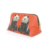 Panda - Medium Designer Red Cosmetic Make Up Bag