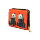 Panda - Womens Red Compact Purse Wallet with Cute Panda Artwork